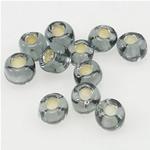 Silbereinzug Glas Rocailles, Glas-Rocailles, rund, 3x3.60mm, Bohrung:ca. 1mm, verkauft von Tasche