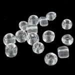 Transparente Glas Rocailles, Glas-Rocailles, Rondell, transluzent, klar, 3x3.60mm, Bohrung:ca. 1mm, verkauft von Tasche