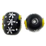 Weihnachten Lampwork Perlen, Trommel, 13.50x17.50mm, Bohrung:ca. 1.8mm, verkauft von PC