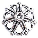 Zinklegierung Perlenkappe, Dom, antik silberfarben plattiert, frei von Blei & Kadmium, 13.50x6mm, Bohrung:ca. 1.5mm, ca. 1250PCs/Tasche, verkauft von Tasche