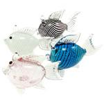 Mode Dekoration, Lampwork, Fisch, gemischte Farben, 35.50x75x58mm, 5PCs/Menge, verkauft von Menge