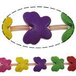 Türkis Perlen, Synthetische Türkis, Schmetterling, gemischte Farben, 21x18x6mm, Bohrung:ca. 1.5mm, ca. 18PCs/Strang, verkauft per ca. 15 ZollInch Strang