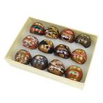 Lampwork Fingerring, Goldsand, gemischte Farben, 29x27x23mm, Bohrung:ca. 18mm, Größe:8, 12PCs/Box, verkauft von Box