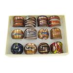Lampwork Fingerring, Goldsand, gemischte Farben, 26x27x25mm, Bohrung:ca. 17mm, Größe:7, 12PCs/Box, verkauft von Box