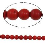 Türkis Perlen, Synthetische Türkis, rund, keine, 8mm, Bohrung:ca. 1mm, ca. 52PCs/Strang, verkauft per ca. 14.5 ZollInch Strang