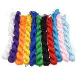 Polyester Schnur, gemischte Farben, 1.50mm, Länge:1260-1400 m, 10Taschen/Menge, verkauft von Menge
