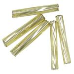 Bugles Seed Perlen drehen, Glas-Rocailles, Rohr, transparent & Twist, beige, 2x9mm, Bohrung:ca. 1mm, verkauft von Tasche