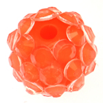 Harz Strass Perlen, Trommel, mit Strass, Rosa, 10x12mm, Bohrung:ca. 2mm, 100PCs/Tasche, verkauft von Tasche