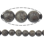 Schneeflocke Obsidian, rund, 10mm, Bohrung:ca. 2mm, Länge:ca. 15 ZollInch, 20SträngeStrang/Menge, ca. 37PCs/Strang, verkauft von Menge