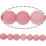 Marmor Naturperlen, natürliche Marmor, rund, Rosa, 8mm, Bohrung:ca. 1mm, Länge:ca. 15.3 ZollInch, 10SträngeStrang/Menge, ca. 48PCs/Strang, verkauft von Menge