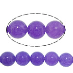 Jade Perlen, weiße Jade, rund, glatt, violett, 6mm, Bohrung:ca. 0.8mm, Länge:ca. 15 ZollInch, 30SträngeStrang/Menge, ca. 60PCs/Strang, verkauft von Menge