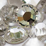 Kristall Eisen auf Nagelkopf, Dom, flache Rückseite & facettierte, Kristall, Grade A, 7.8-8.0mm, 1Grosses/Tasche, verkauft von Tasche