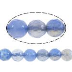 Achat Perlen, Feuerachat, rund, verschiedene Größen vorhanden & Maschine facettiert, blau, verkauft per ca. 14.5 ZollInch Strang