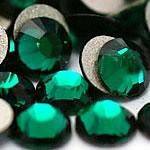 Kristall Eisen auf Nagelkopf, Dom, flache Rückseite & facettierte, smaragdgrün, Grade A, 6.4-6.6mm, 2Grosses/Tasche, 144PCs/brutto, verkauft von Tasche