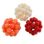 Natürliche Korallen Perlen, rund, handgemacht, gemischte Farben, 4-5mm,18-22mm, 10PCs/Tasche, verkauft von Tasche