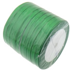 Satinband, grün, 6mm, Länge:230 HofHof, 10PCs/Menge, verkauft von Menge