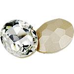 Kristall Eisen auf Nagelkopf, oval, Rivoli-Rückseite & facettierte, Kristall, 18x25mm, 100PCs/Tasche, verkauft von Tasche