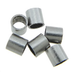 Edelstahlrohr Perlen, 316 Edelstahl, originale Farbe, 2x2mm, Bohrung:ca. 1.5mm, 2000PCs/Tasche, verkauft von Tasche