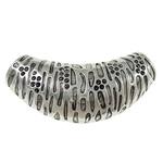 Zinklegierung Perlen Einstellung, Rohr, antik silberfarben plattiert, frei von Blei & Kadmium, 47.50x22.50x15mm, Bohrung:ca. 8-8.5mm, 20PCs/Tasche, verkauft von Tasche