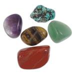 Natürlicher Quarz Perlen Schmuck, kein Loch, 11-40mm, ca. 20PCs/kg, verkauft von kg