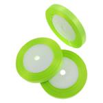 Satinband, glitzer grün, 1cm, Länge:1250 HofHof, 50PCs/Menge, verkauft von Menge