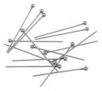 Edelstahl Ball Head Pin, originale Farbe, 2x24mm, 0.6mm, 1000PCs/Tasche, verkauft von Tasche