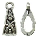 Zinklegierung Stiftöse Perlen, antik silberfarben plattiert, frei von Blei & Kadmium, 5x13x6mm, Bohrung:ca. 2mm, 100G/Tasche, verkauft von Tasche