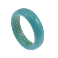 Türkis Fingerring, Synthetische Türkis, himmelblau, 6mm, Größe:5, 100PCs/Menge, verkauft von Menge