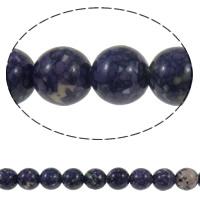 Regen Blumen Stein Perlen, rund, natürlich, 10mm, Bohrung:ca. 1mm, Länge:ca. 15 ZollInch, 10SträngeStrang/Menge, ca. 37PCs/Strang, verkauft von Menge