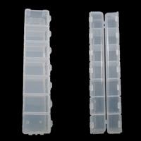 Schmuck Nagelkasten, Kunststoff, Rechteck, transluzent, weiß, 155x34.50x18mm, verkauft von Paar