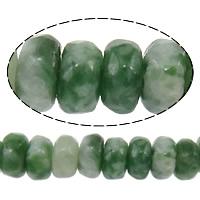 Grüner Tupfen Stein Perlen, grüner Punkt Stein, Rondell, facettierte, 2x4mm, Bohrung:ca. 0.5mm, Länge:ca. 15 ZollInch, 10SträngeStrang/Menge, ca. 160PCs/Strang, verkauft von Menge