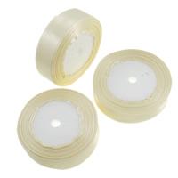 Satinband, beige, 25mm, 10PCs/Menge, 22m/PC, verkauft von Menge