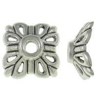 Zinklegierung Perlenkappe, antik silberfarben plattiert, frei von Nickel, Blei & Kadmium, 11.50x11.50x4.50mm, Bohrung:ca. 2mm, ca. 1660PCs/kg, verkauft von kg