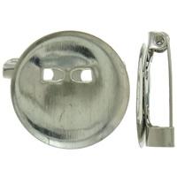 Eisen Broschen Zubehöre, Platinfarbe platiniert, frei von Nickel, Blei & Kadmium, 20x19x6mm, Bohrung:ca. 2mm, 1000PCs/Tasche, verkauft von Tasche