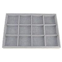 Baumwollsamt Anzeigebrett, mit Karton, Rechteck, grau, 355x240x30mm, 5PCs/Menge, verkauft von Menge