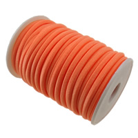 Elastisches Garn, Nylon, rote Orange, 4mm, Länge:ca. 20 m, verkauft von PC
