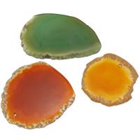 Achat Schmuck Anhänger, gemischter Achat, gemischt, 52-66mm, Bohrung:ca. 2mm, 30PCs/Tasche, verkauft von Tasche
