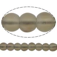 Natürliche Rauchquarz Perlen, rund, satiniert, 6mm, Bohrung:ca. 1mm, Länge:ca. 15.5 ZollInch, 10SträngeStrang/Menge, ca. 67PCs/Strang, verkauft von Menge