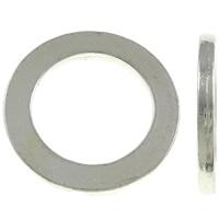 Zinklegierung Verbindungsring, Kreisring, silberfarben plattiert, frei von Nickel, Blei & Kadmium, 22x2mm, Bohrung:ca. 15mm, 10PCs/Tasche, verkauft von Tasche