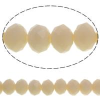 Klasse AA Kristallperlen, Kristall, Rondell, facettierte & AA grade crystal, Aprikose, 10x8mm, Bohrung:ca. 1mm, Länge:ca. 21.2 ZollInch, 10SträngeStrang/Tasche, verkauft von Tasche