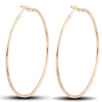 Gets® Schmuck Ohrring, Messing, Kreisring, 18 K vergoldet, frei von Nickel, Blei & Kadmium, 65mm, verkauft von Paar