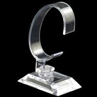Kunststoff Uhrenständer, klar, 35x55mm, 70x35x15mm, 95mm, 100PCs/Menge, verkauft von Menge