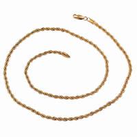 Gets® Schmuck Halskette, Messing, 18 K vergoldet, Seil-Kette, frei von Nickel, Blei & Kadmium, 3mm, verkauft per ca. 23.5 ZollInch Strang