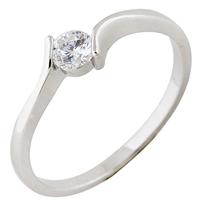 Gets® Finger Ring, Messing, platiniert, mit kubischem Zirkonia, frei von Nickel, Blei & Kadmium, 4mm, Größe:9, verkauft von PC