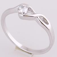 Gets® Finger Ring, Messing, Unendliche, platiniert, mit kubischem Zirkonia, frei von Nickel, Blei & Kadmium, 4mm, Größe:7.5, verkauft von PC