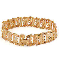 Gets® Schmuck Armband, Messing, 18 K vergoldet, frei von Nickel, Blei & Kadmium, 14mm, verkauft per ca. 7.5 ZollInch Strang