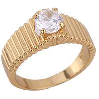 Gets® Finger Ring, Messing, 18 K vergoldet, mit kubischem Zirkonia, frei von Nickel, Blei & Kadmium, 7mm, Größe:8, verkauft von PC