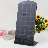 Kunststoff Ohrringständer, schwarz, 90x175mm, 50PCs/Menge, verkauft von Menge