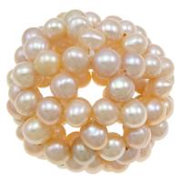 Ball Cluster Zuchtperlen, Natürliche kultivierte Süßwasserperlen, rund, Rosa, 40mm, verkauft von PC