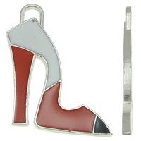 Zinklegierung Schuhe Anhänger, Platinfarbe platiniert, Emaille, frei von Nickel, Blei & Kadmium, 23x30x2mm, Bohrung:ca. 4x3mm, 25PCs/Tasche, verkauft von Tasche